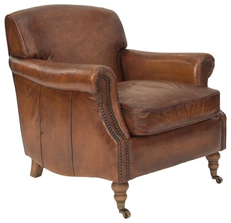 Traditional Armchair by Ladbroke Armchair In Antique Leather Traditional