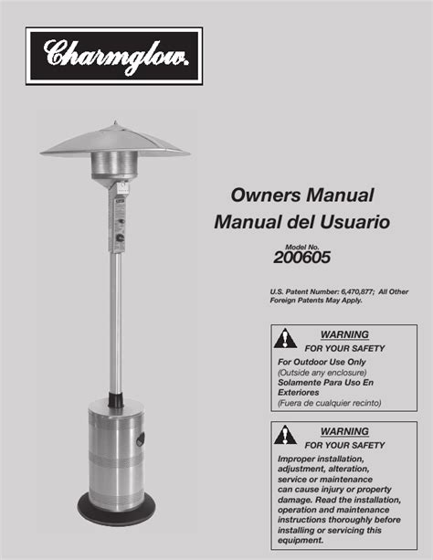 charmglow patio heater manual patio heater review