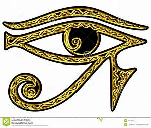 Eye Of Horus - Reverse Eye Of Thoth Stock Illustration ...