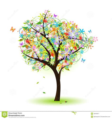 colourfull tree colorful tree royalty free stock photography image 18818817