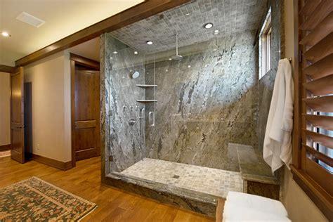 slab shower surround craftsman bathroom denver