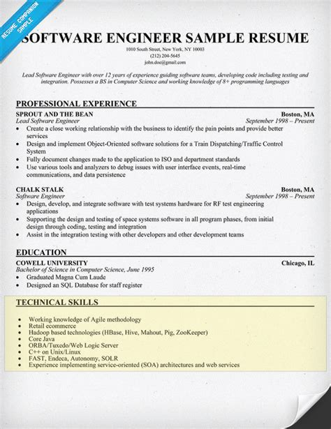 How To List Software Skills On Resume how to write a skills section for a resume resume companion