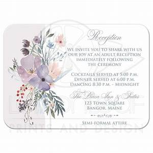 bohemian wildflowers wedding reception card smoky blue With kitchen colors with white cabinets with wedding envelope stickers