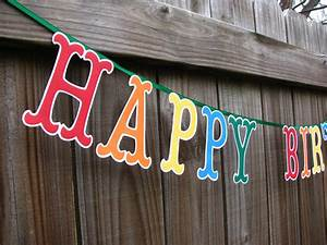 Happy birthday banner large letters birthday banner colorful for Happy birthday big letters