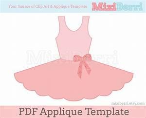 ballet tutu dress applique pattern pdf applique template With pin the tutu on the ballerina template