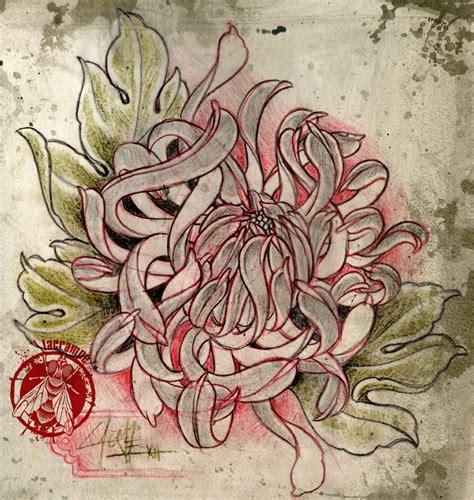 tatouage japonais chrysantheme modeles  exemples