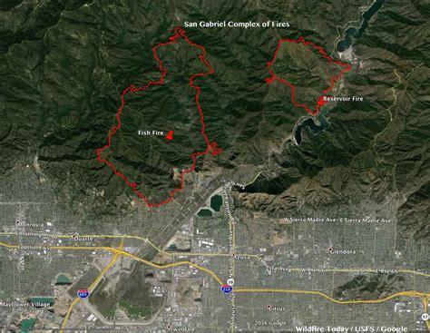 california san gabriel complex  fires  los angeles
