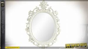 Miroir Blanc Baroque : miroir ovale blanc de style baroque 47 cm ~ Teatrodelosmanantiales.com Idées de Décoration