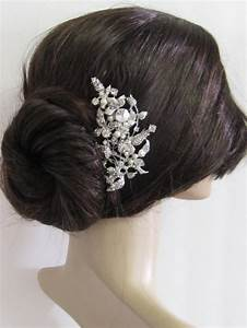 Large Crystal Hair Combbridal Hair Comb Wedding Brooch
