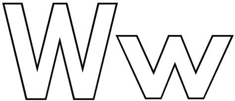 Letter W Coloring Coloring Pages