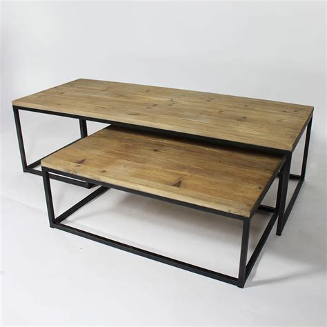 table basse industrielle gigogne made in meubles