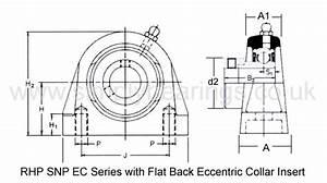 Rhp Snp25ec Threaded Base Pillow   Plummer Block  U0026 25mm Bore Flat Back Collar Ins Simply Bearings Ltd