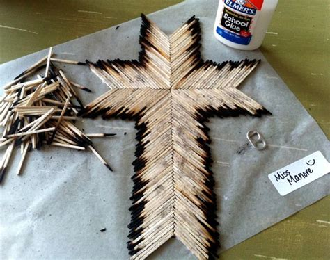 religious craft ideas for adults matchstick cross project 7101