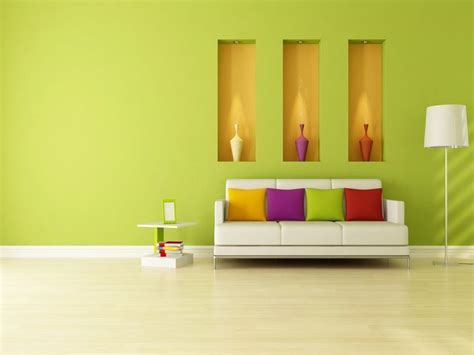 colors for home interiors small house interior design with green wall color