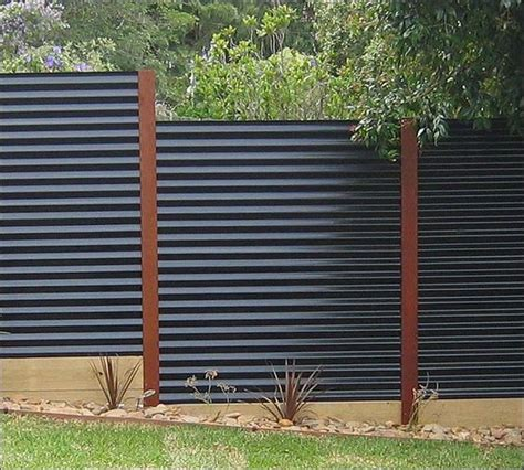 corrugated metal fence diy corrugated metal fences