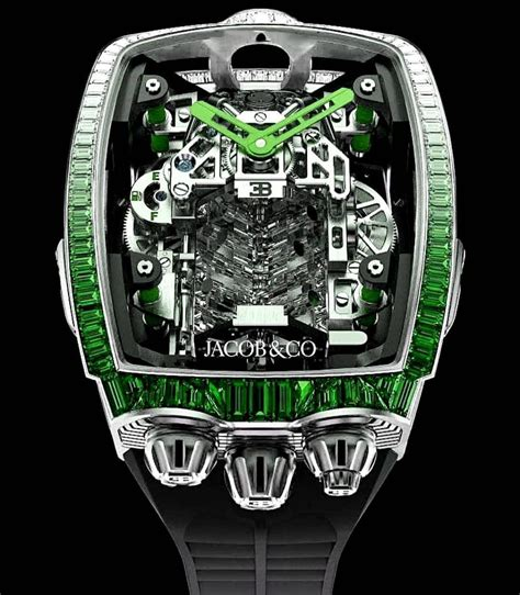 Bugatti embarks into a new era: Jacob & Co. 捷克豹 NEW MODEL Bugatti Chiron 16 Cylinder Tourbillon in Hong Kong for sale (10928099)