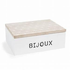 Boite A Bijoux En Bois : bo te bijoux en bois h 8 cm greenwich village maisons du monde ~ Teatrodelosmanantiales.com Idées de Décoration