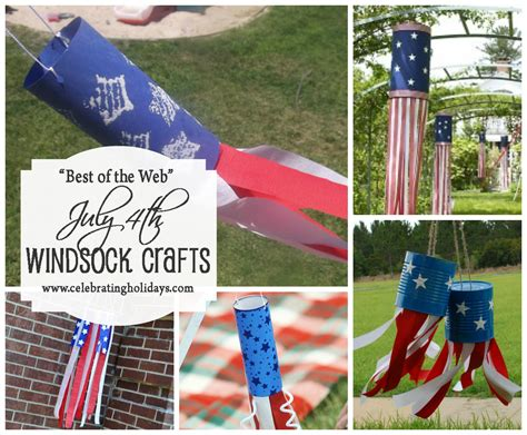 July 4th (independence Day) Patriotic Windsock Craft