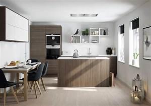 Petit Ilot Central Cuisine Ikea : les armoires de cette cuisine lumineuse et contemporaine ont t ~ Melissatoandfro.com Idées de Décoration