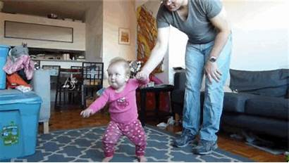 Learning Walk Daughter Dad Lapse Play Filmed