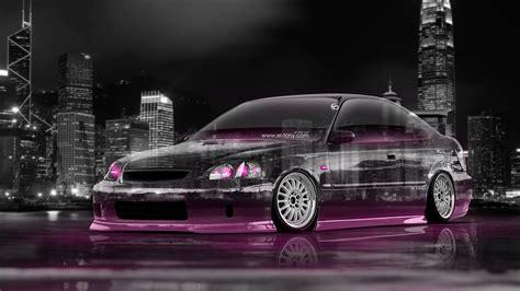 Honda Civic 4k Wallpapers by 4k Honda Civic Coupe Jdm Tuning City Car 2015 El