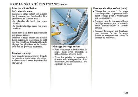 siege auto sans ceinture mégane 2 et isofix mégane mégane rs renault forum