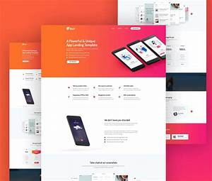 mobile app website template free psd download download psd With free mobile site template download