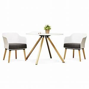 Fauteuil Design Blanc : fauteuil design scandinave bergen blanc ~ Teatrodelosmanantiales.com Idées de Décoration