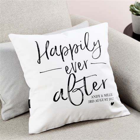 personalised cusion personalised engagement gift cushion by tillyanna