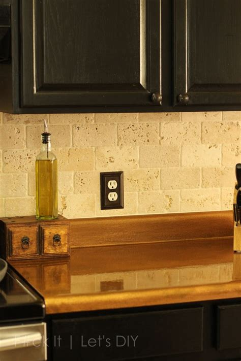 faux copper countertops   home kitchen