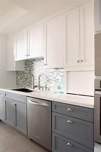 sleek two toned kitchen cabinets hgtv