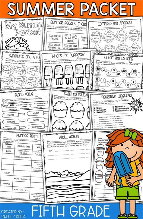 Summer Packet For 5th Grade Makes Summer Review Fun And Easy! No Prep Packet Has Summer Math
