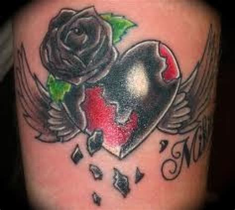 heart  rose tattoos  designs heart  rose tattoo