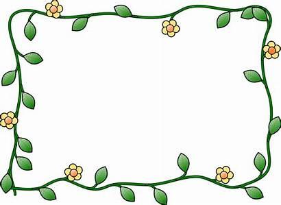 Frame Flower Clip Svg Border Frames Clipart