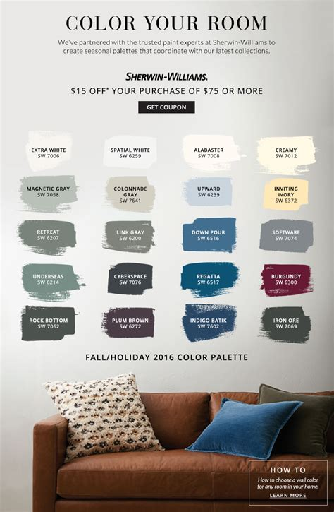 Brown Couch Living Room Color Schemes by Paint Landing Pottery Barn