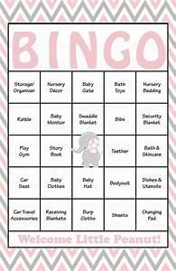Elephant Baby Shower - Baby Bingo Cards