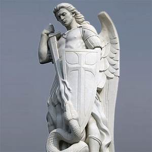 Life Size Marble Archangel Michael Statue Large Stone ...