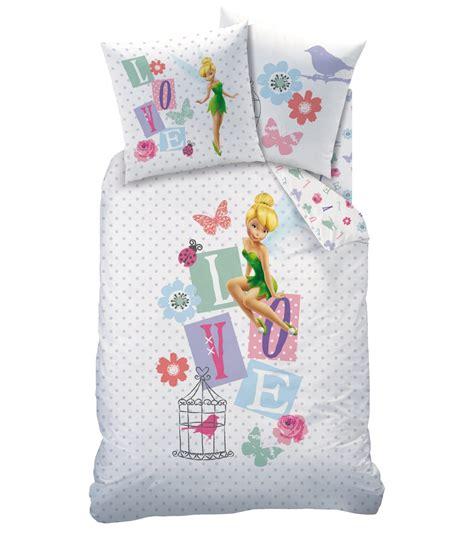 parure de lit bebe fee clochette housse de couette f 233 e clochette disney fairies parure de lit 140 x 200 cm quot jardin des