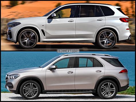 photo comparison  mercedes gle   bmw