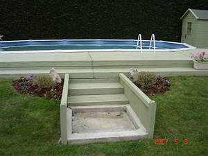 Enterrer Une Piscine Hors Sol : bache piscine photo 4 9 voici notre piscine une piscine hors sol que mon ~ Melissatoandfro.com Idées de Décoration