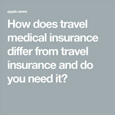 Temporary coverage for medical expenses & emergency evacuations travel health insurance concentrates coverage on key medical expenses, such as emergency if you're not sure whether travel health insurance is right for you, contact img today to learn more. How does travel medical insurance differ from travel insurance and do you need it? — USA TODAY ...