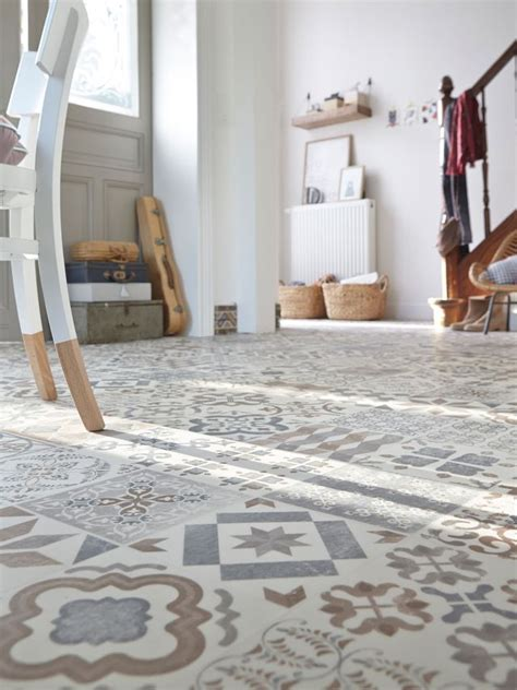 revetement sol cuisine lino carreaux de ciment 10 revêtements de sol imitation