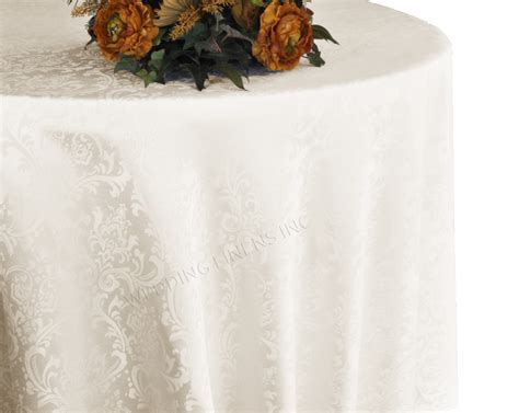 Jacquard Tischdecke by 120 Inch Damask Jacquard Polyester Linens Tablecloths Ivory