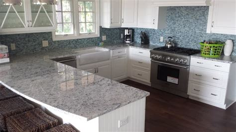 colonial white granite mosaic glass tile backsplash