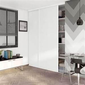 porte de placard coulissante effet frene blanc spaceo l98 With couleur de peinture pour une entree 9 dressing pour votre chambre portes de placard pour chambre