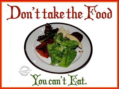slogan cuisine anti wastage slogans
