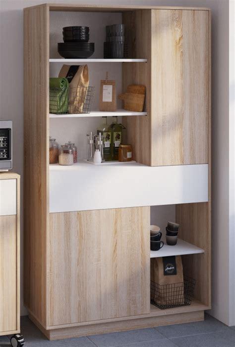 aparador alto cocina mueble microondas auxiliar blanco
