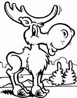 Moose Coloring Pages Funny Christmas Canada Printable Animal Drawing Sheets Face Draw Clipartmag Deer Getcolorings Getdrawings Colorings Gaddynippercrayons sketch template