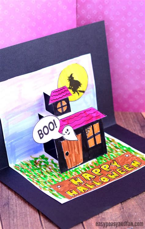halloween pop  card template easy peasy  fun