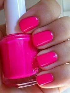 Essie Hot pink nail polish | Pretty Nails | Pinterest | I ...